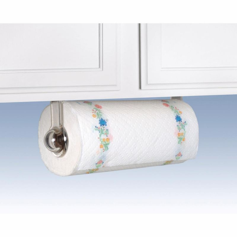 buy spectrum plastic paper towel holder clear. Black Bedroom Furniture Sets. Home Design Ideas