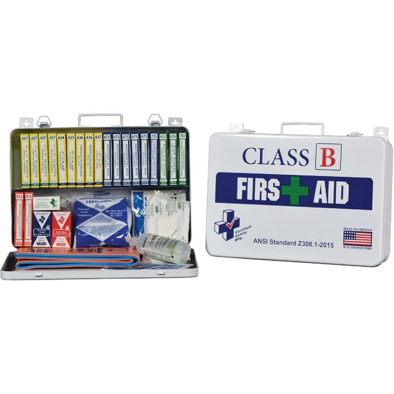 Certified Safety Class B ANSI & OSHA Certified First Aid Kit