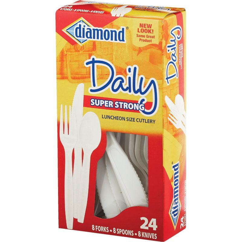 Diamond Heavy-Duty Plastic Cutlery Set