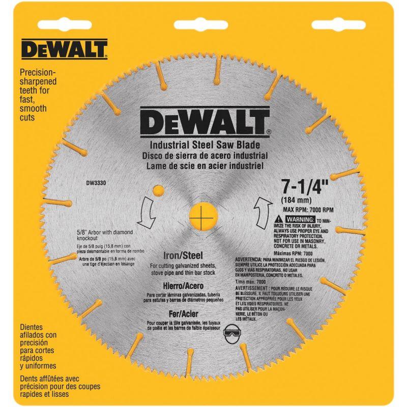 DeWalt Industrial Steel Circular Saw Blade
