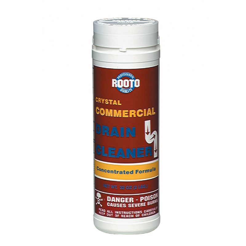 Rooto Commercial Crystal Drain Cleaner 32 Oz.