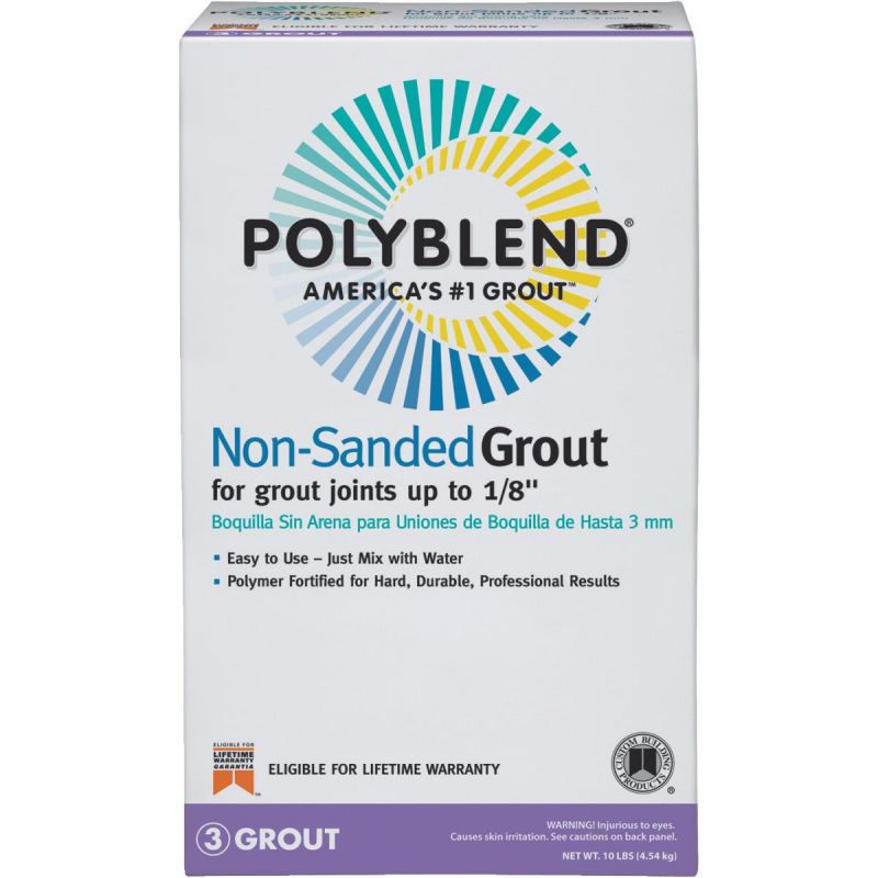 Custom Building Products Polyblend Non-Sanded Tile Grout 10 Lb., Tobacco Brown