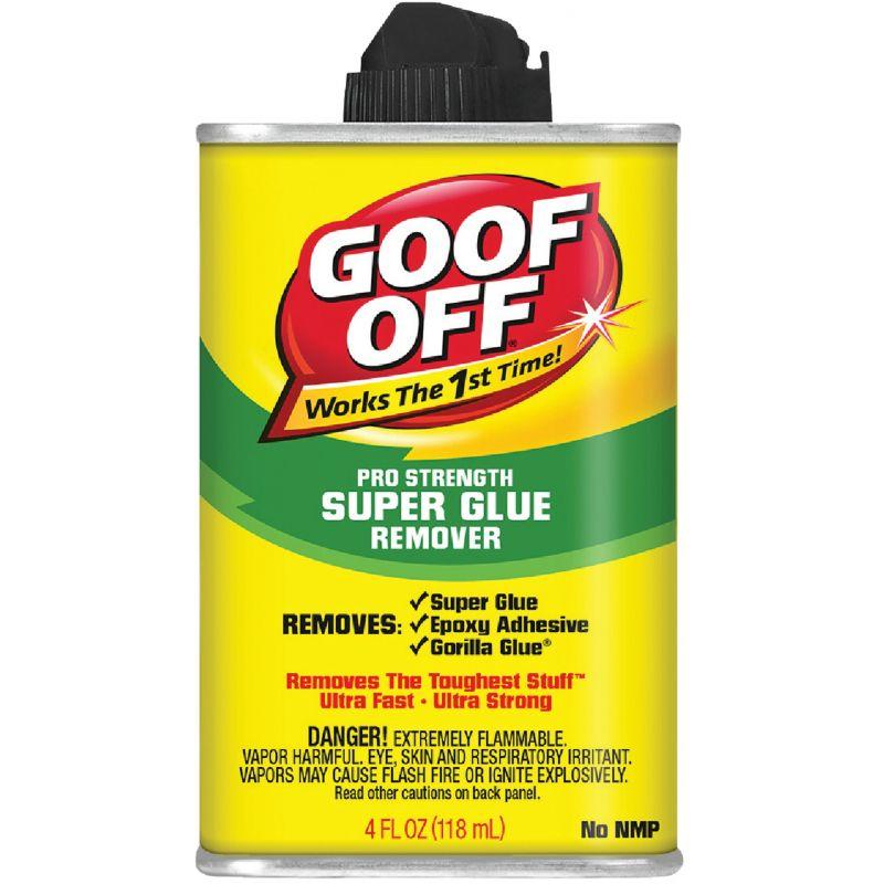 Goof Off Pro Strength Super Glue Remover 4 Oz.
