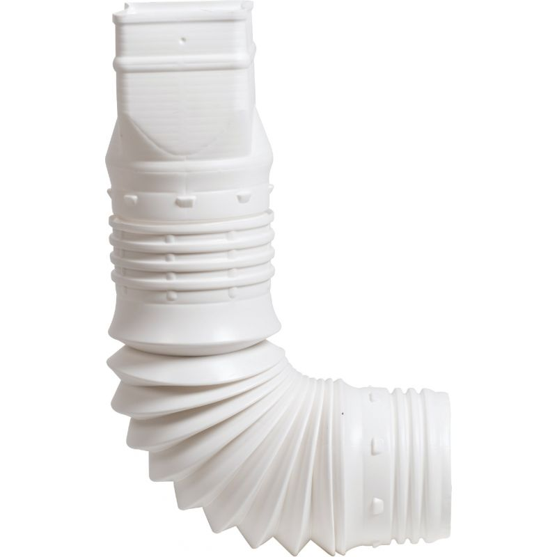 Amerimax Flex-A-Spout Downspout Adapter White