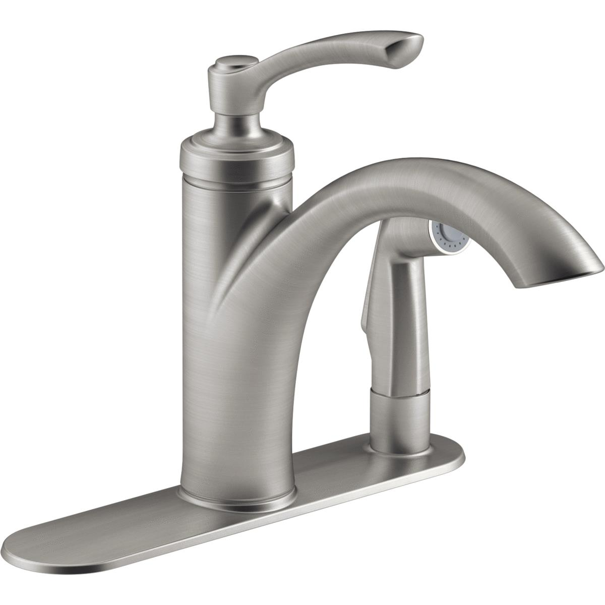 Buy Kohler Linwood Pullout Kitchen Faucet With Soap or Lotion Dispenser