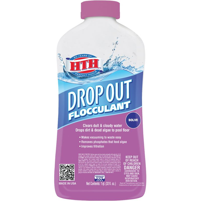 HTH Drop Out Flocculant Clarifier 1 Qt.