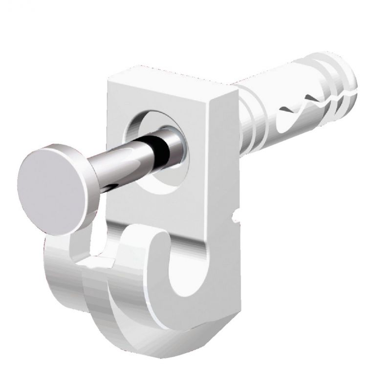 Closetmaid Wire Shelf White Wall Clip White