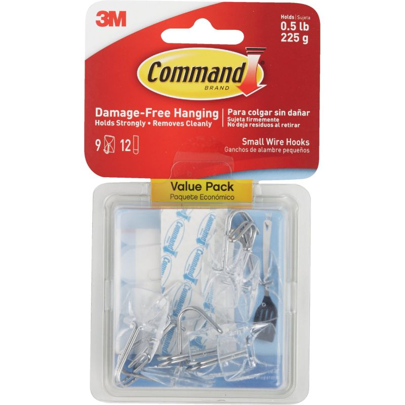 3M Command Wire Adhesive Hook Clear