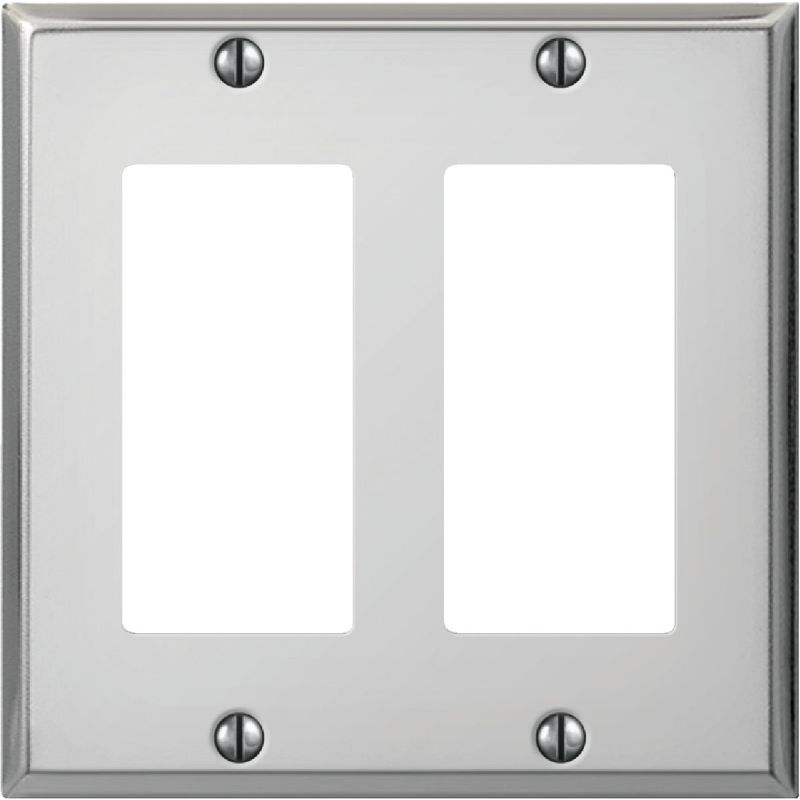 Amerelle PRO Stamped Steel Rocker Decorator Wall Plate Polished Chrome