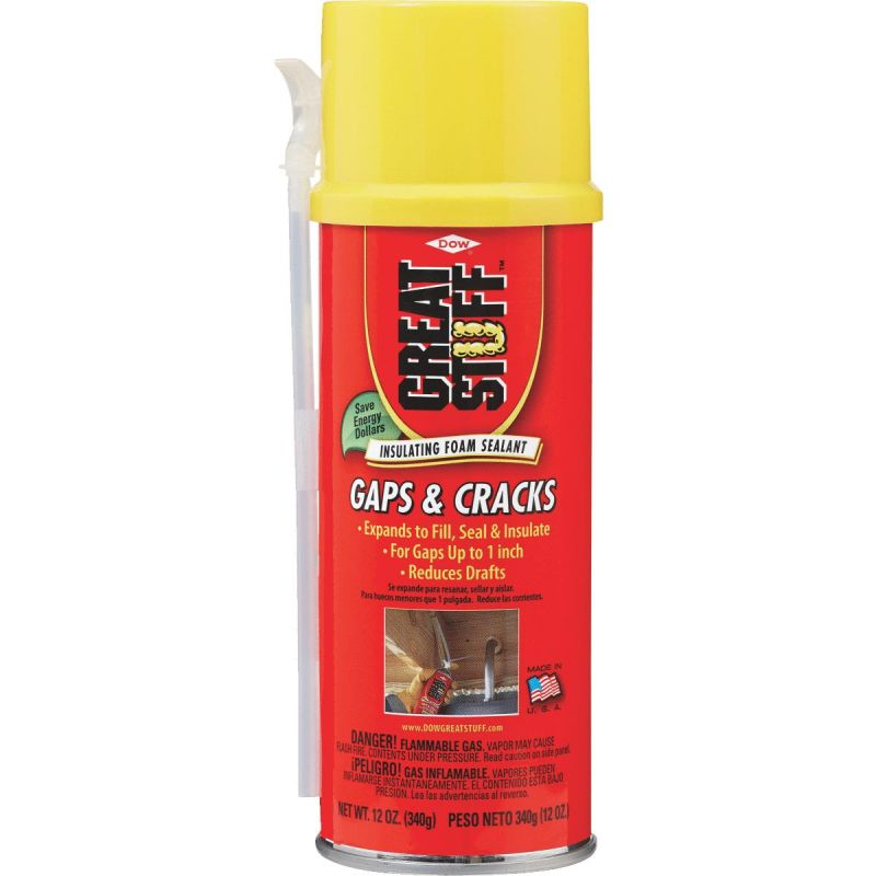 GREAT STUFF Gaps & Cracks Insulating Foam Sealant 12 Oz., Cream