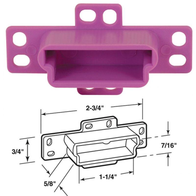 Prime-Line Drawer Backplate Center Mount Track Socket Purple