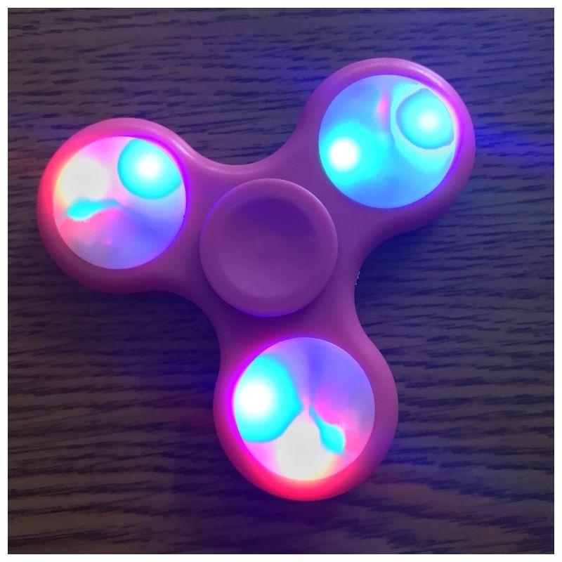 LED Light Hand Spinner - Pink Fidget Spinner Pink