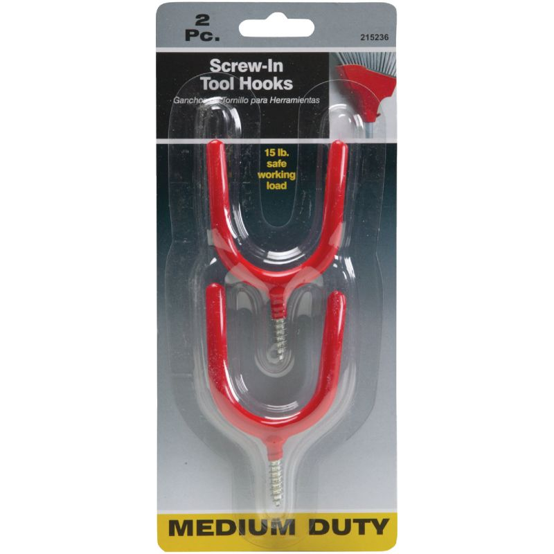 Screw-In Tool Hook Red
