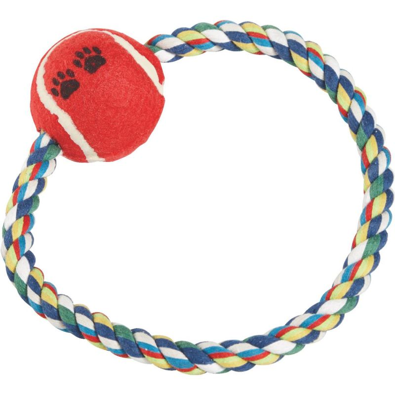 Smart Savers Rope Ring Dog Toy 7 In., Multi-Colored (Pack of 12)