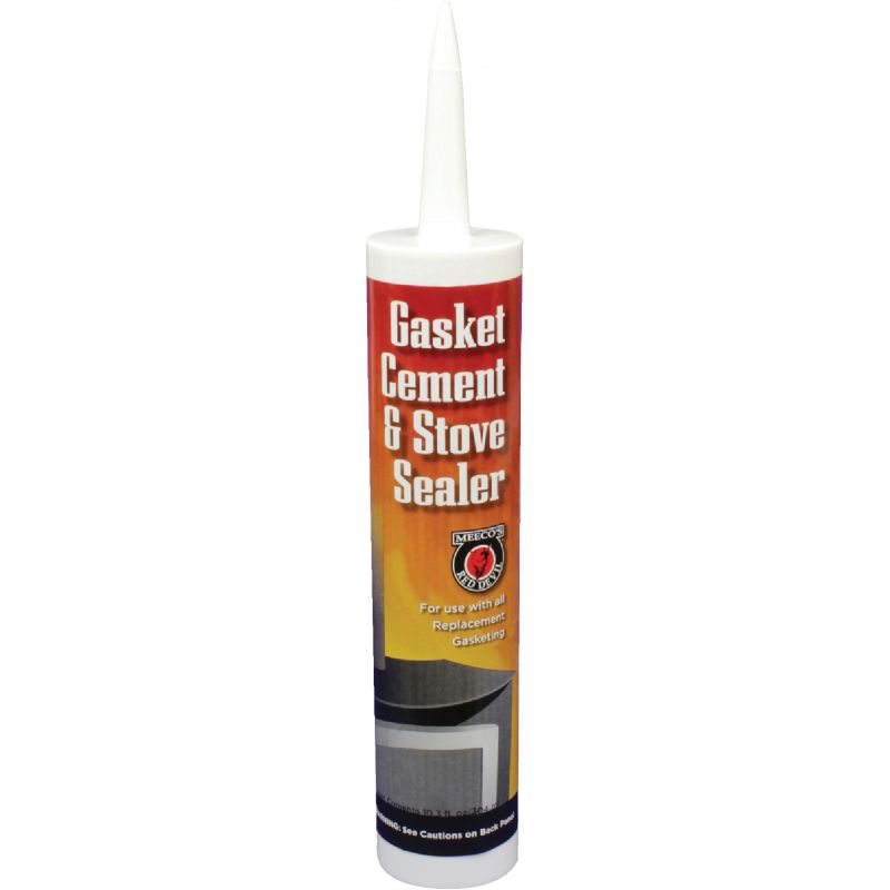 Meeco's Red Devil Gasket Cement and Stove Sealer Black, 10.3 Oz.