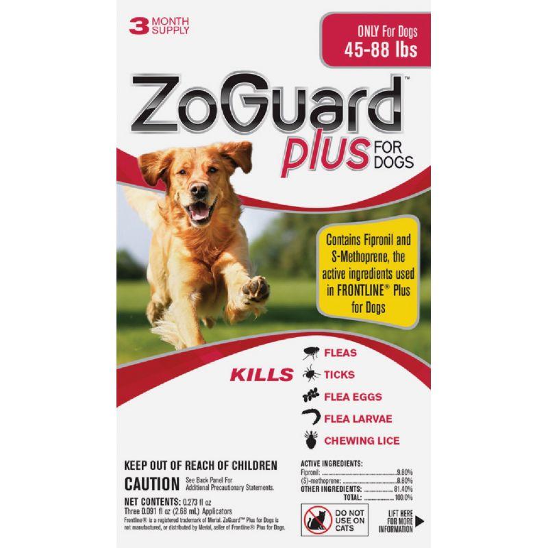 ZoGuard Plus For Dogs Flea & Tick Treatment (3) 0.091 Oz. Tubes