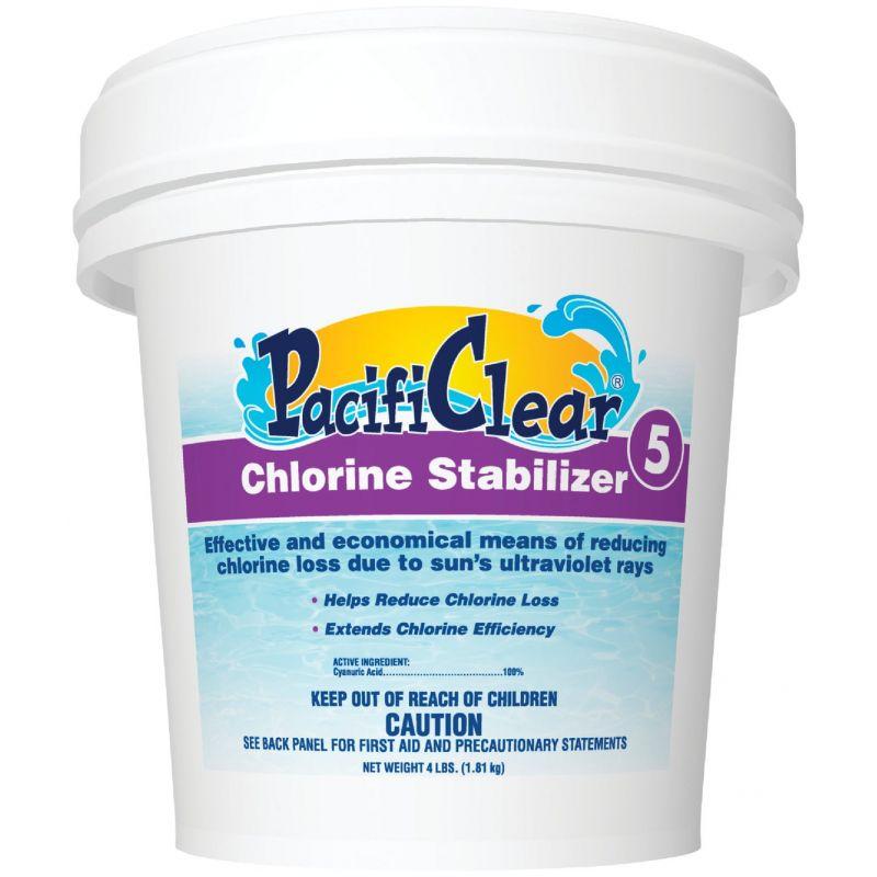 PacifiClear Chlorine Stablilizer Granule 4 Lb.