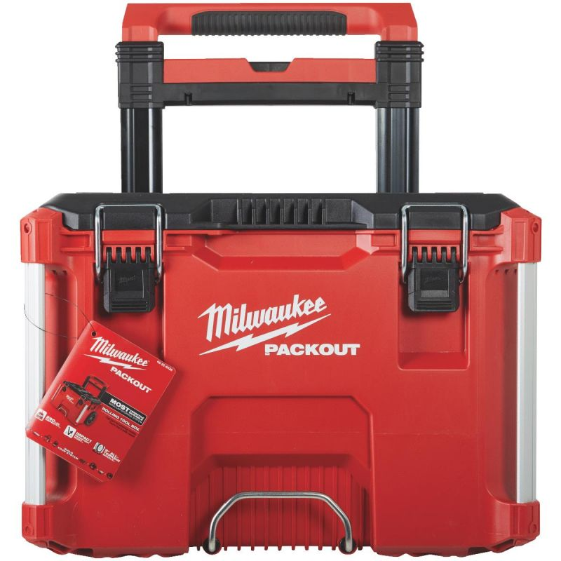 Milwaukee PACKOUT Rolling Toolbox 250 Lb., Red/Black
