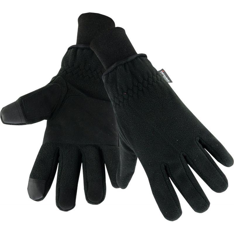 West Chester Polyester Winter Work Glove L, Black