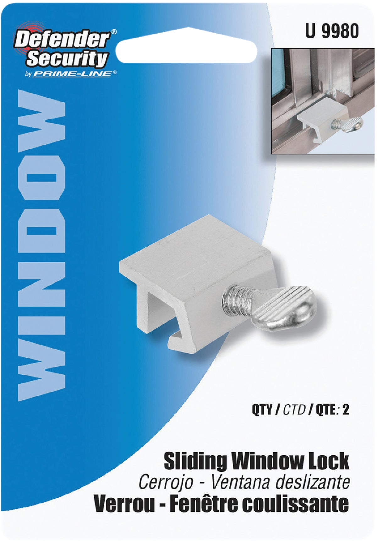 Buy Defender Security Heavy-Duty Sliding Window Lock Aluminum