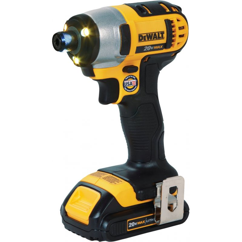 DeWalt 20V MAX Lithium-Ion Cordless Impact Driver Kit (2 Battery) 1/4 In. Hex