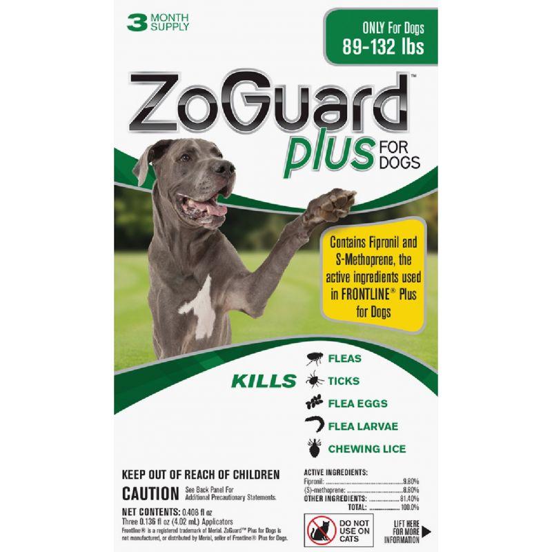 ZoGuard Plus For Dogs Flea & Tick Treatment (3) 0.136 Oz. Tubes