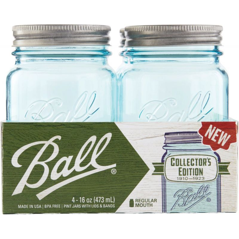 Ball Collector's Edition Aqua Vintage Canning Jar 1 Pt.