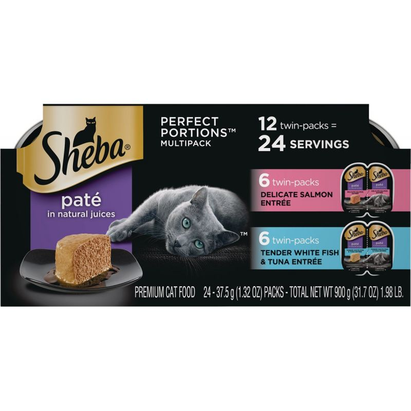 Sheba Perfect Portions Pate Wet Cat Food 12-Pack