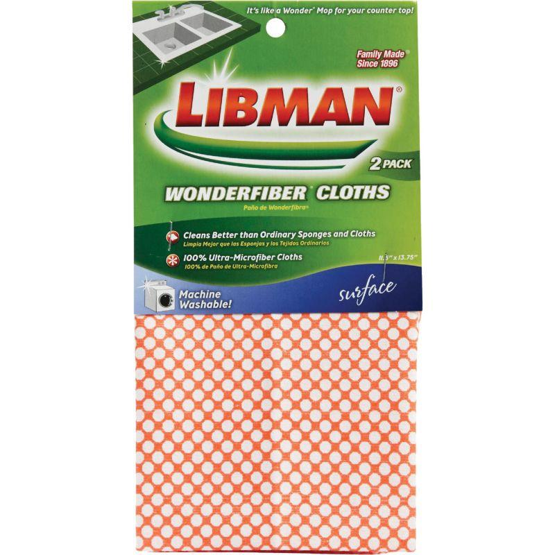 Libman Wonderfiber Cleaning Cloths Red