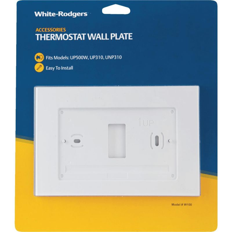 White Rodgers Thermostat Wall Plate White