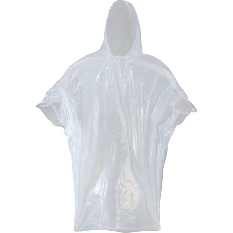 West Chester Clear Disposable Rain Poncho Clear