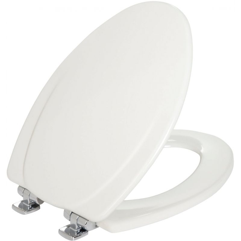 Mayfair Elongated Slow-Close Wood Toilet Seat White, Elongated
