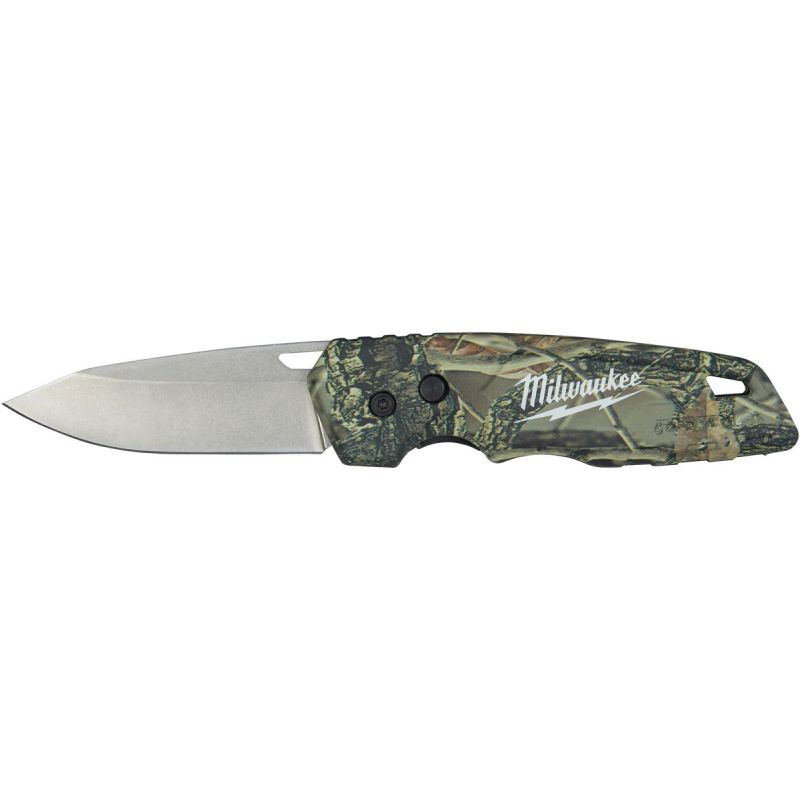 Milwaukee Fastback Camo Pocket Knife Camo, 2.95 In.