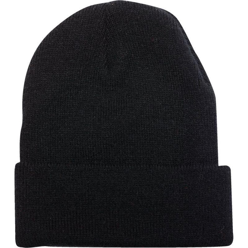 Outdoor Cap Cuffed Sock Cap Black, Cuffed