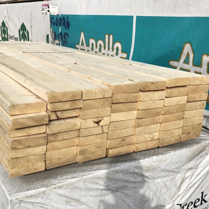 "2"" x 6"" x 8' SPF Construction Grade Lumber"
