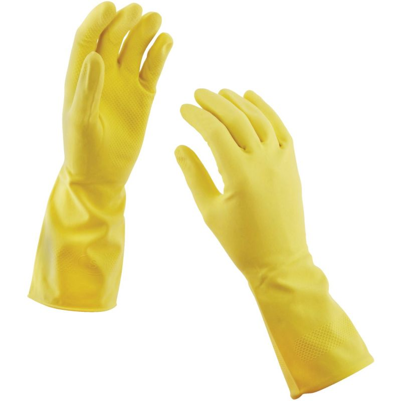 Soft Scrub Premium Fit Latex Rubber Glove L, Blue