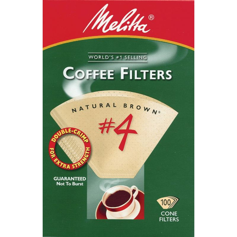 Melitta #4 Cone Coffee Filter 8 To 12 Cup, Brown