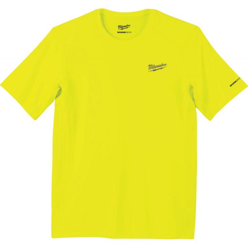 Milwaukee Workskin Lightweight Performance T-Shirt M, High Visibility, Short Sleeve