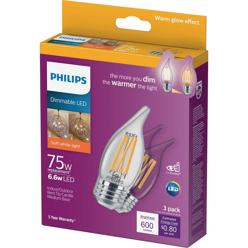 Philips Warm Glow BA11 Medium LED Decorative Light Bulb