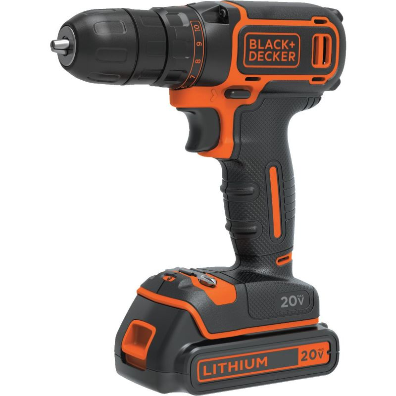 Black & Decker 20V MAX Lithium-Ion Cordless Drill Kit
