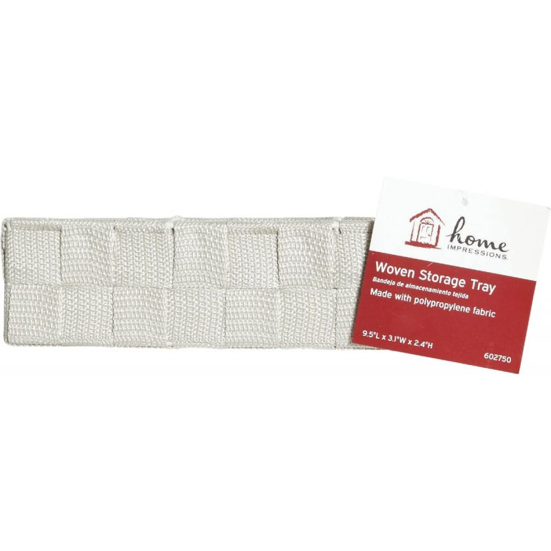 Home Impressions Woven Storage Tray Beige