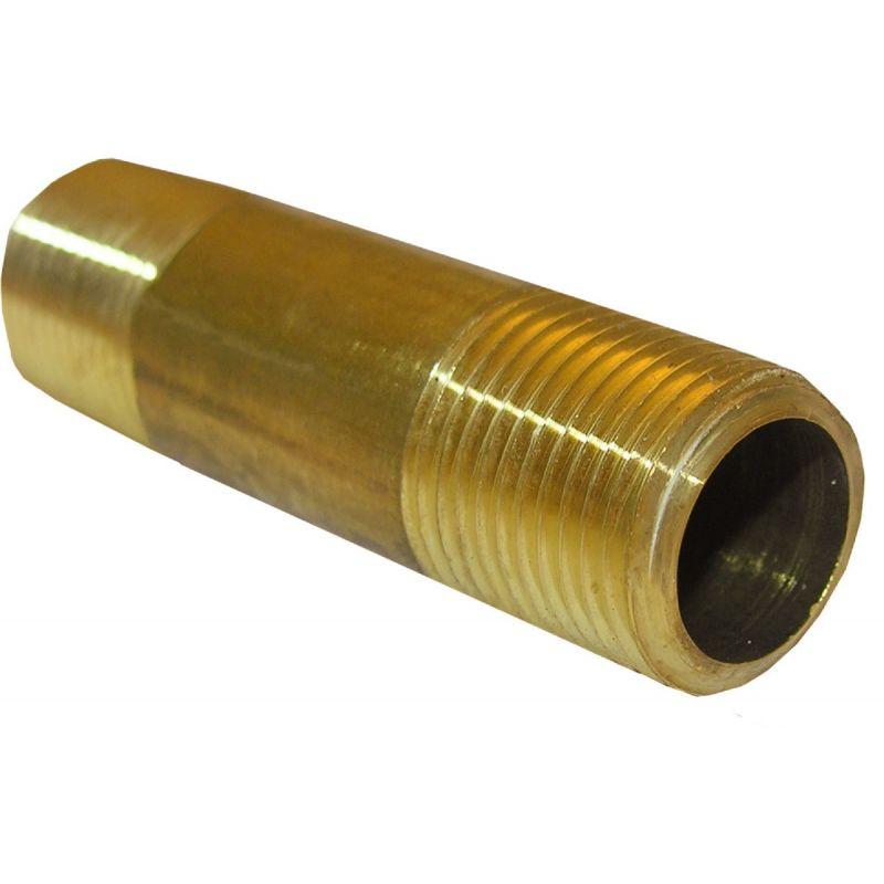 """Lasco Short Brass Nipple 3/8"""" MPT X 1-1/2"""""""