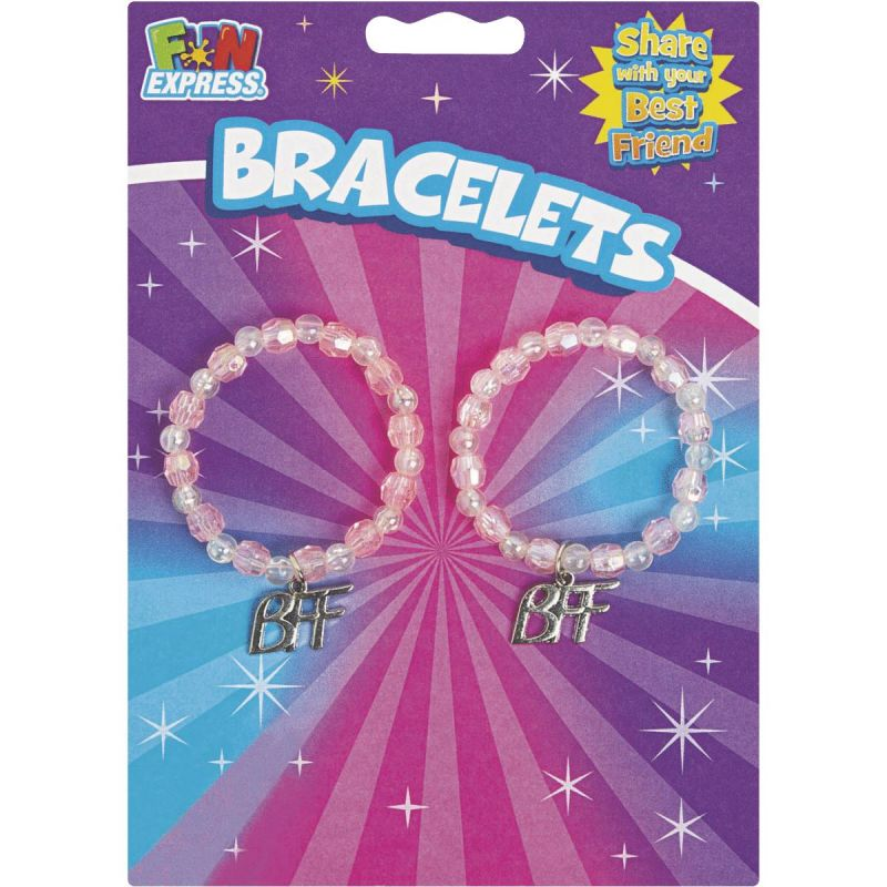 Fun Express Best Friend Braclets 2-1/4 In. Circle, Multi-Color (Pack of 6)