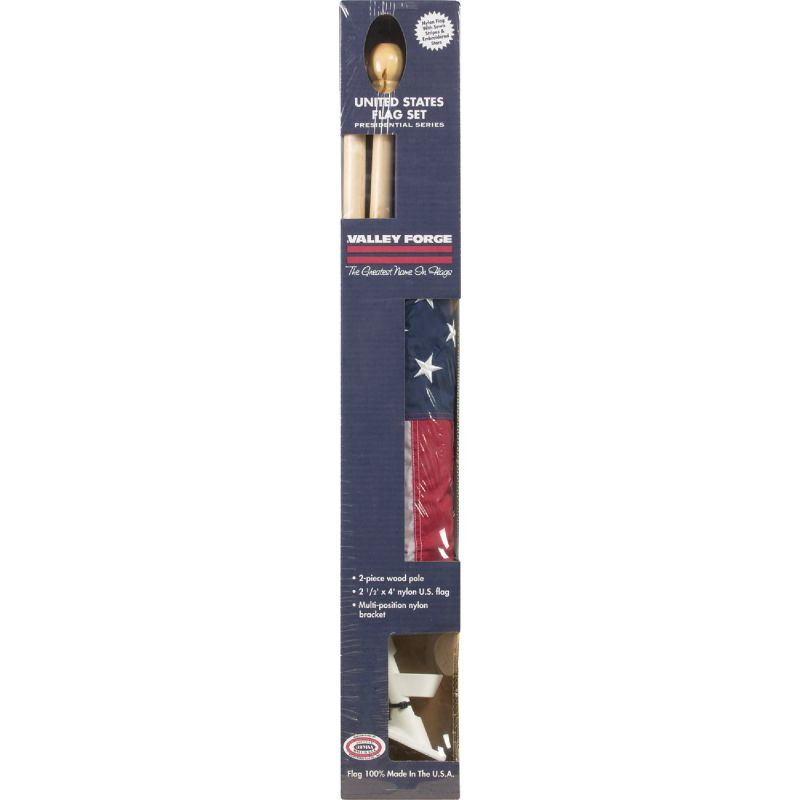 Valley Forge American Flag 6 Ft. Wood Pole Kit