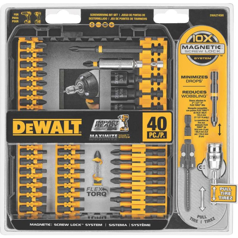 DeWalt 40-Piece Impact Screwdriver Bit Set