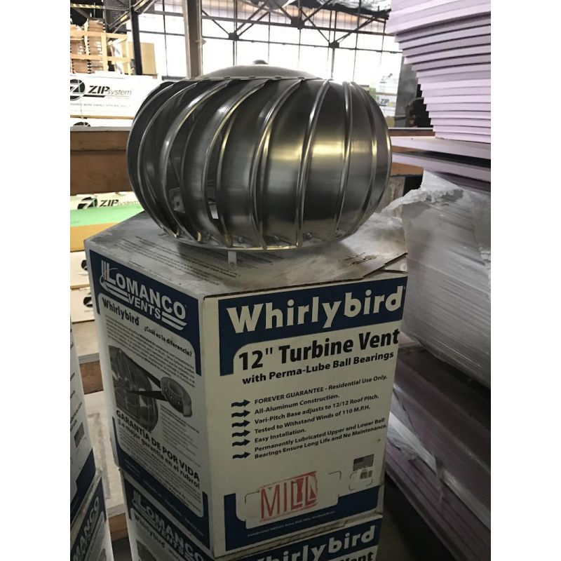 Buy Lomanco 12 In Aluminum Wind Turbine Mill Finish With Base 12 Mill Finish