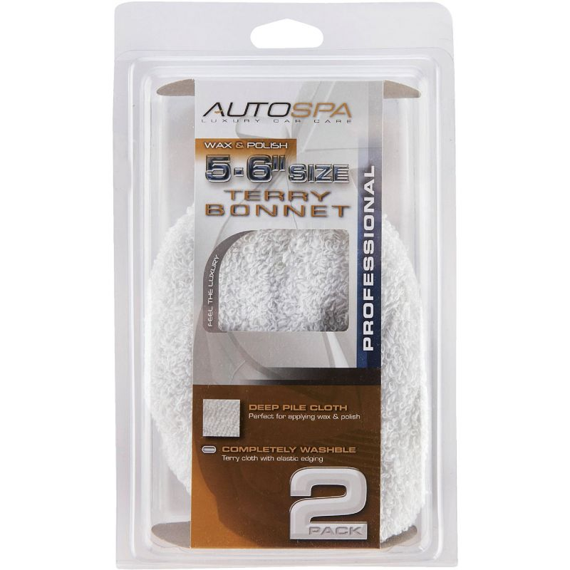 """Auto Spa Cotton Terry Waxing And Polishing Bonnet 5"""" To 6"""""""