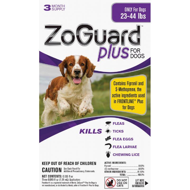 ZoGuard Plus For Dogs Flea & Tick Treatment (3) 0.045 Oz. Tubes