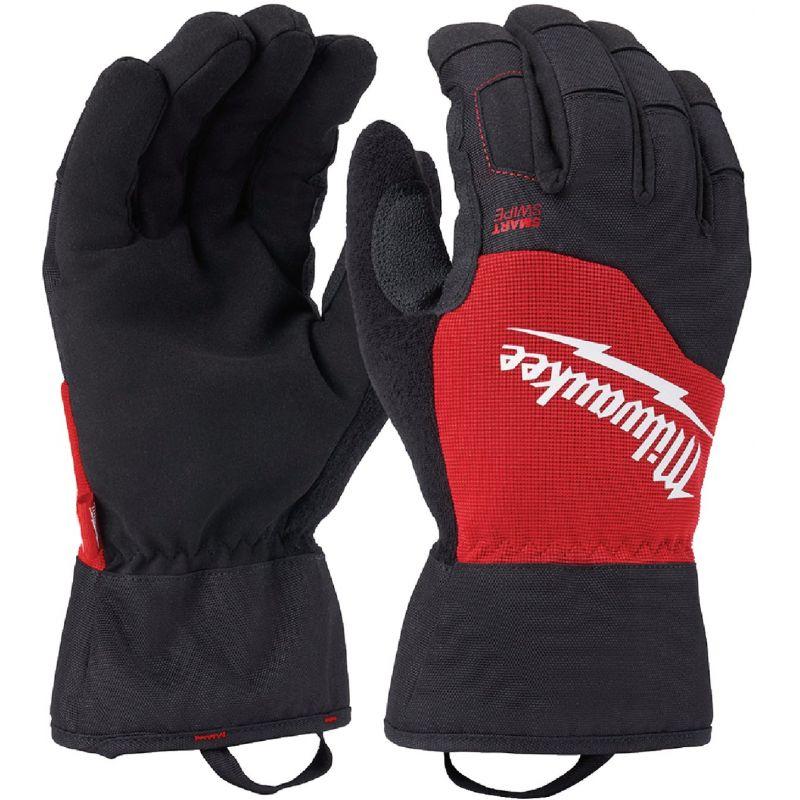 Milwaukee Winter Performance Gloves M, Black/Red