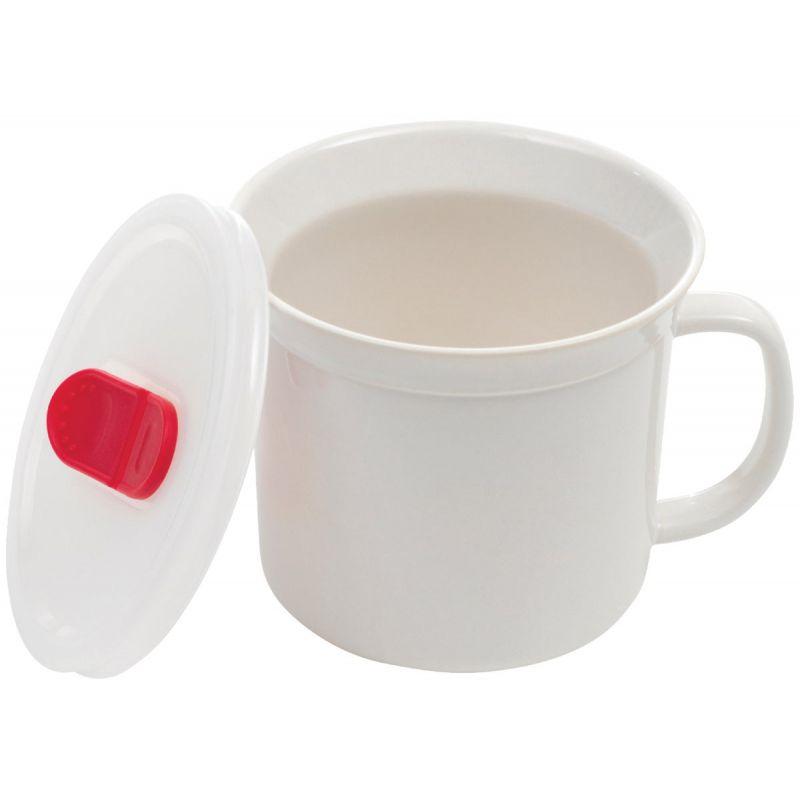 Goodcook Vented Stoneware Soup Mug 20 Oz., White